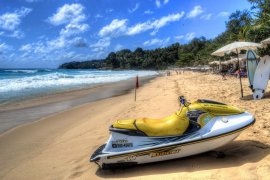 A Jet-Ski for rent at Surin Beach