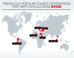 Holiday destinations to avoid