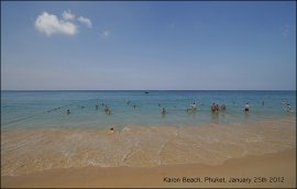 Karon Beach Phuket 25th January 2012